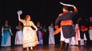 Noche folclórica en el Marechal