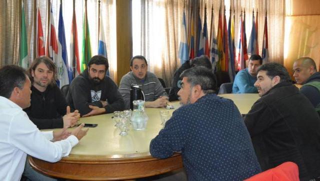 Walter Festa se reunió con representantes gremiales