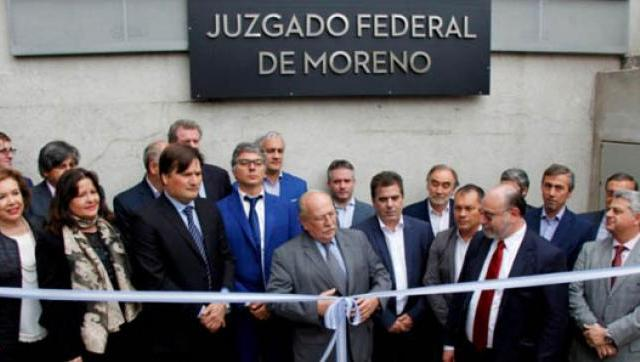 Inauguran Juzgado Federal en Moreno