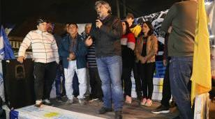 Walter Correa encabezó homenaje a Evita