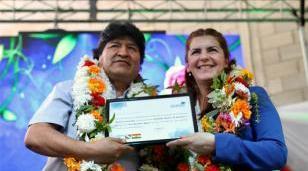 Evo Morales declarado Visitante Ilustre de Moreno