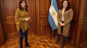Cristina Fernández de Kirchner recibió a Mariel Fernández