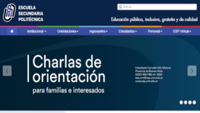 Charlas de Orientación de la Escuela Secundaria Politécnica de la Universidad Nacional de Moreno
