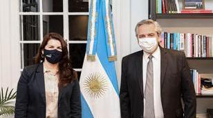Alberto Fernández recibió a Mariel Fernández en Olivos