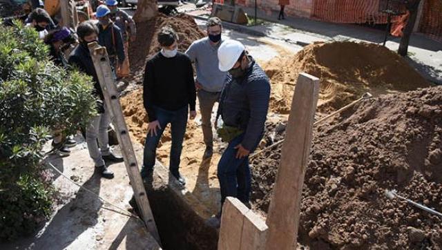Avanzan las obras del plan cloacal en Morón sur