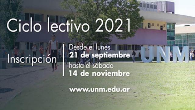 Inscripción al Ciclo lectivo 2021 a la Universidad Nacional de Moreno