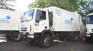 Moreno recibió nuevos camiones para la recolección de residuos