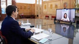 Moreno firmó convenio para fortalecer la asistencia local ante la emergencia sanitaria