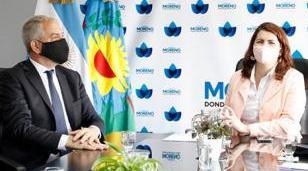 El ministro Alak se reunión con la intendenta de Moreno