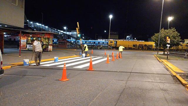 Se realizan trabajos de seguridad vial en el distrito