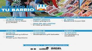 """Calendario semanal de """"Mercado en tu barrio"""""""