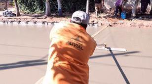 Trabajos de pavimentación en Moreno Norte y La Reja
