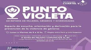 Puntos violetas en Moreno