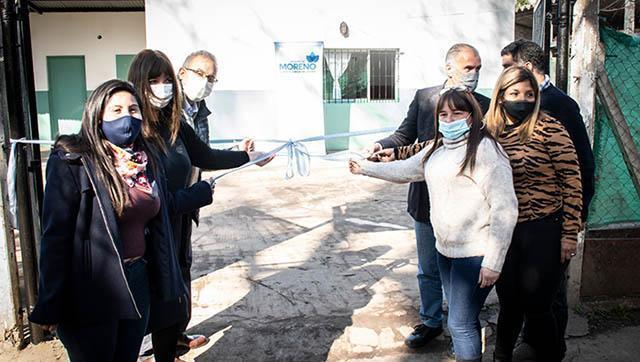 Moreno inauguró el primer hogar municipal para niñas y niños del distrito