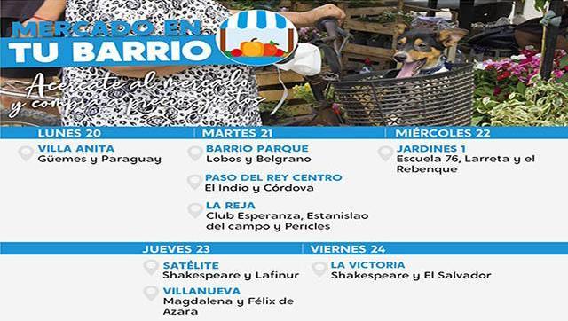El Mercado en tu barrio estará esta semana en Moreno